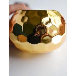 Ceramic Gold Succulent Pot